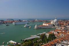 Paisaje urbano aéreo panorámico de Venecia, Italia Foto de archivo