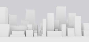 Paisaje urbano abstracto stock de ilustración