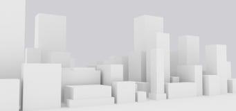 Paisaje urbano abstracto libre illustration