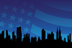 Paisaje urbano americano libre illustration