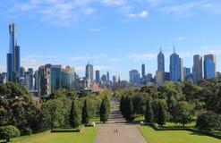 Paisaje urbano Australia de Melbourne Imagen de archivo