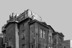 Paisaje urbano blanco y negro Imagenes de archivo