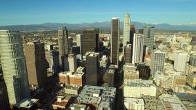 Paisaje urbano céntrico de la antena de Los Ángeles almacen de video