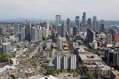 Paisaje urbano céntrico de Seattle Foto de archivo libre de regalías