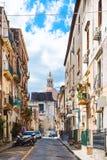 Paisaje urbano - calle vía Gesuiti en la ciudad de Catania Fotografía de archivo libre de regalías