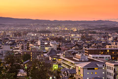 Paisaje urbano céntrico de Nara, Japón Fotos de archivo libres de regalías