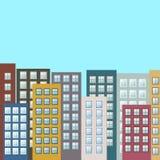 Paisaje urbano colorido, Real Estate Imagenes de archivo