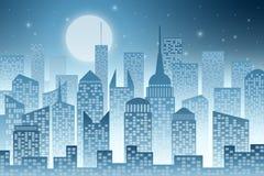 Paisaje urbano con el rascacielos ilustración del vector