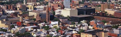 Paisaje urbano congestionado de Patterson, NJ imagen de archivo