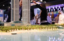 Paisaje urbano de Abu Dhabi Fotos de archivo libres de regalías