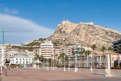 Paisaje urbano de Alicante Fotos de archivo libres de regalías