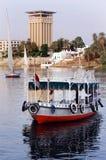 Paisaje urbano de Aswan Fotos de archivo libres de regalías