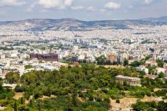 Paisaje urbano de Atenas, Grecia Fotografía de archivo