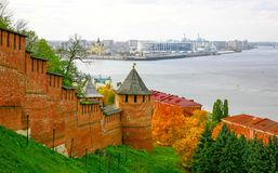 Paisaje urbano de Autum de Nizhny Novgorod Imagen de archivo libre de regalías