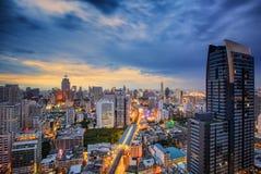 Paisaje urbano de Bangkok Foto de archivo libre de regalías