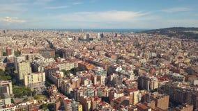 Paisaje urbano de Barcelona almacen de metraje de vídeo