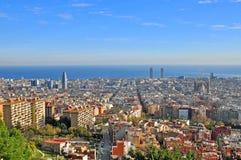 Paisaje urbano de Barcelona Fotos de archivo libres de regalías