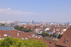 Paisaje urbano de Basilea Imagen de archivo libre de regalías