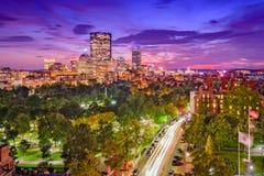 Paisaje urbano de Boston Massachusetts imagenes de archivo