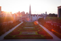 Paisaje urbano de Bruselas Fotografía de archivo libre de regalías