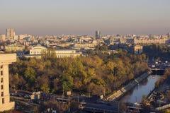 Paisaje urbano de Bucarest Imagen de archivo libre de regalías