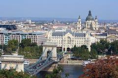 Paisaje urbano de Budapest, Hungría foto de archivo libre de regalías