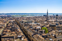 Paisaje urbano de Burdeos, Francia Imágenes de archivo libres de regalías