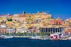 Paisaje urbano de Cagliari foto de archivo libre de regalías
