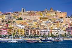 Paisaje urbano de Cagliari, Italia fotografía de archivo libre de regalías