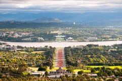 Paisaje urbano de Canberra Fotos de archivo libres de regalías