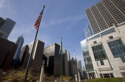 Paisaje urbano de Chicago Fotos de archivo