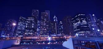 Paisaje urbano de Chicago del horizonte Imagen de archivo
