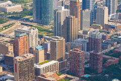 Paisaje urbano de Chicago, Estados Unidos Foto de archivo