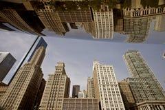Paisaje urbano de Chicago la haba Imagen de archivo libre de regalías