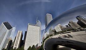 Paisaje urbano de Chicago la haba Fotografía de archivo libre de regalías
