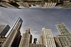 Paisaje urbano de Chicago la haba Fotografía de archivo