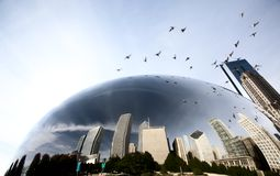 Paisaje urbano de Chicago la haba Fotos de archivo