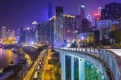 Paisaje urbano de Chongqing, China fotos de archivo