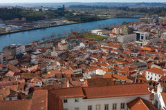 Paisaje urbano de Coímbra, Portugal Imagen de archivo libre de regalías
