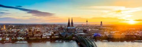 Paisaje urbano de Colonia foto de archivo libre de regalías