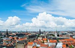 Paisaje urbano de Copenhague Foto de archivo