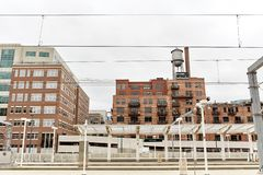 Paisaje urbano de Denver c?ntrica, Colorado fotos de archivo