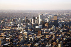 Paisaje urbano de Denver Colorado foto de archivo