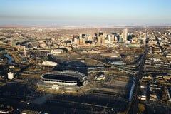 Paisaje urbano de Denver, Colorado, los E.E.U.U. foto de archivo libre de regalías