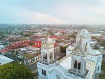 Paisaje urbano de Diriamba en Nicaragua foto de archivo