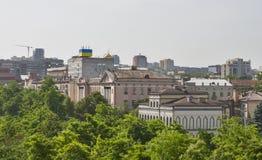 Paisaje urbano de Dnipropetrovsk, Ucrania Imagen de archivo