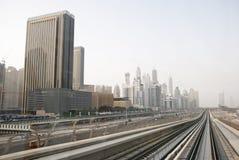 Paisaje urbano de Dubai Foto de archivo libre de regalías