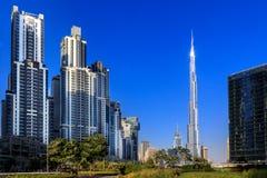 Paisaje urbano de Dubai moderno Imagen de archivo libre de regalías