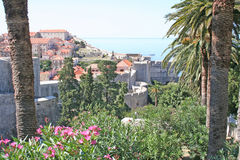 Paisaje urbano de Dubrovnik Fotografía de archivo libre de regalías