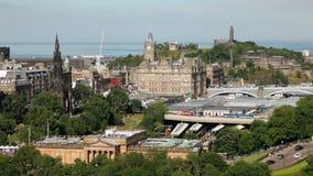 Paisaje urbano de Edimburgo almacen de metraje de vídeo